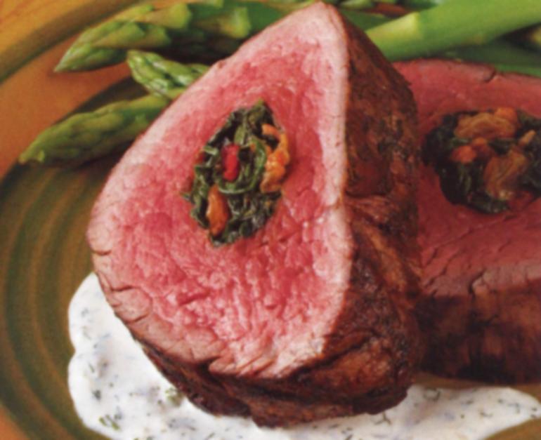 stuffed spinach beef tenderloin