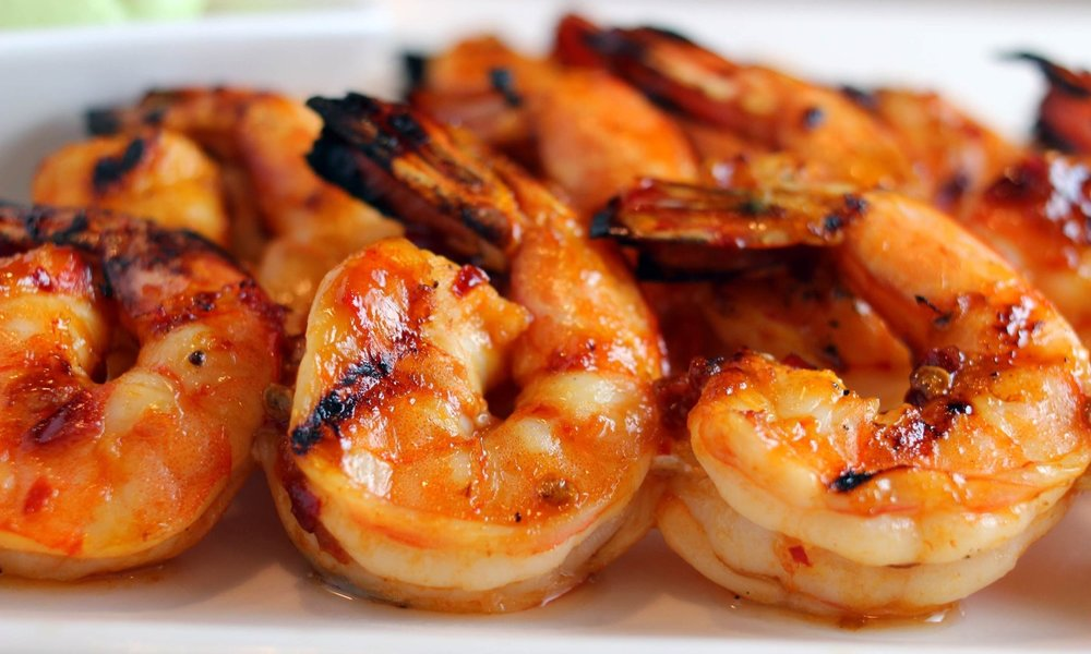 grilled bbq jumbo shrimp