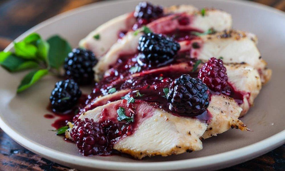 blackberry glazed chicken