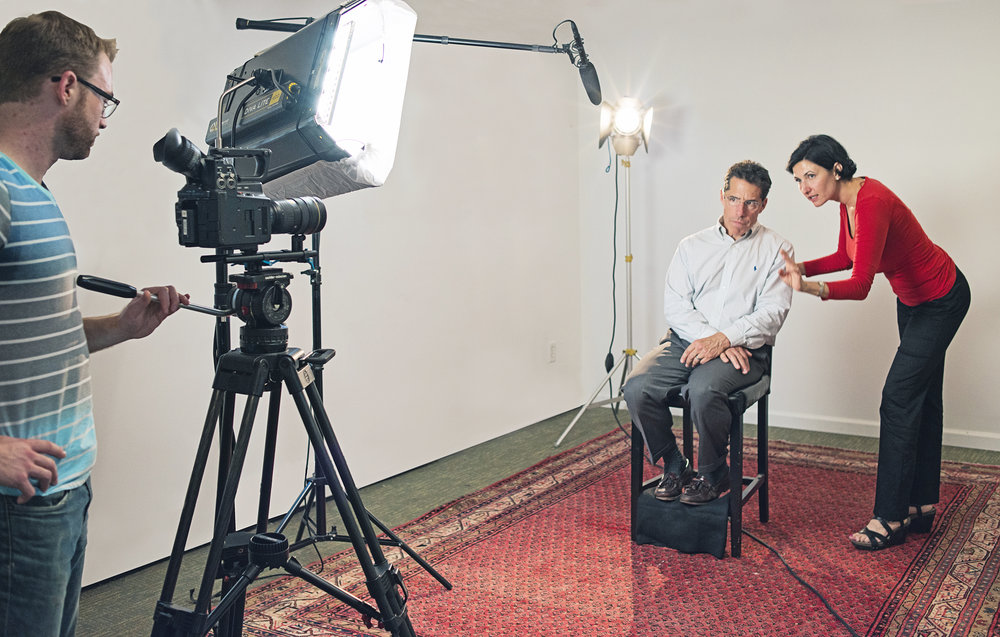 On-camera media coaching