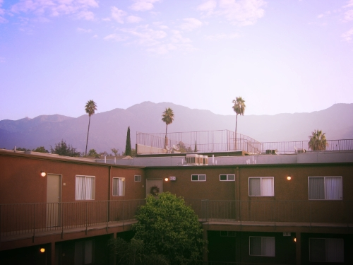 My first apartment was in Glendale, in the Valley. It's nice and quiet back there, not a bad place for my entry into LA.