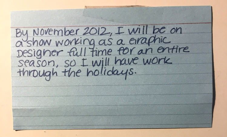 Write your goals down on index cards! Mine always come true, it's so cool!