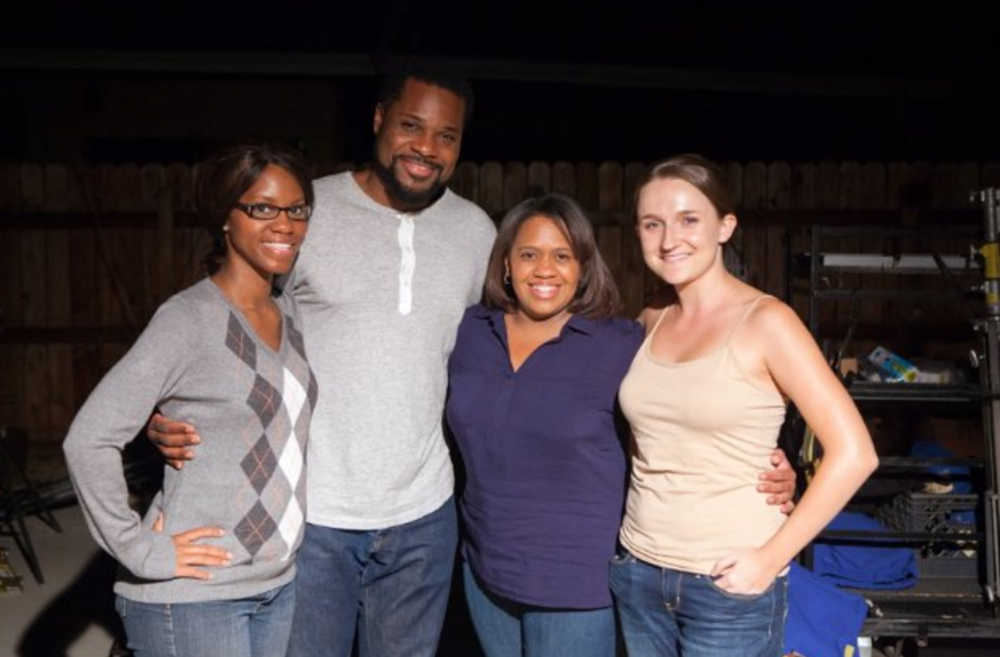 From left to right: Brandi Ford, Malcolm-Jamal Warner, Chandra Wilson, and Tara Tomicevic