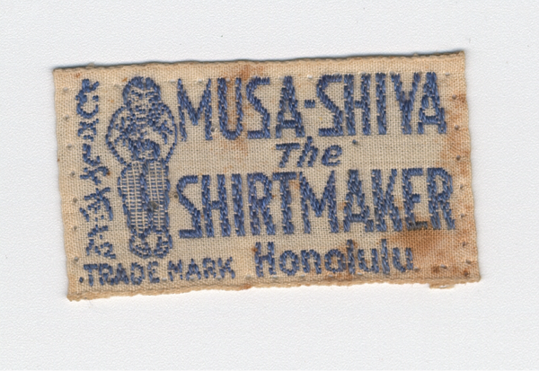 An original Musa-Shiya The Shirtmaker label