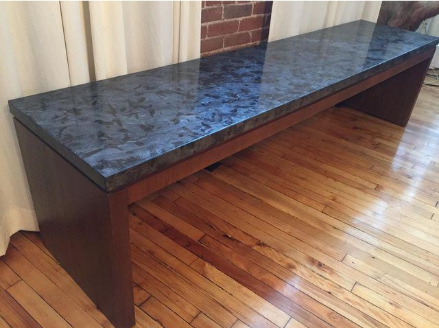 Long Marble Bench/Coffee Table (One Of A Kind)