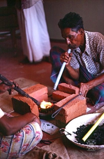 Heating ruby in Mogok 19    55:  photo by Reginald C. Miller