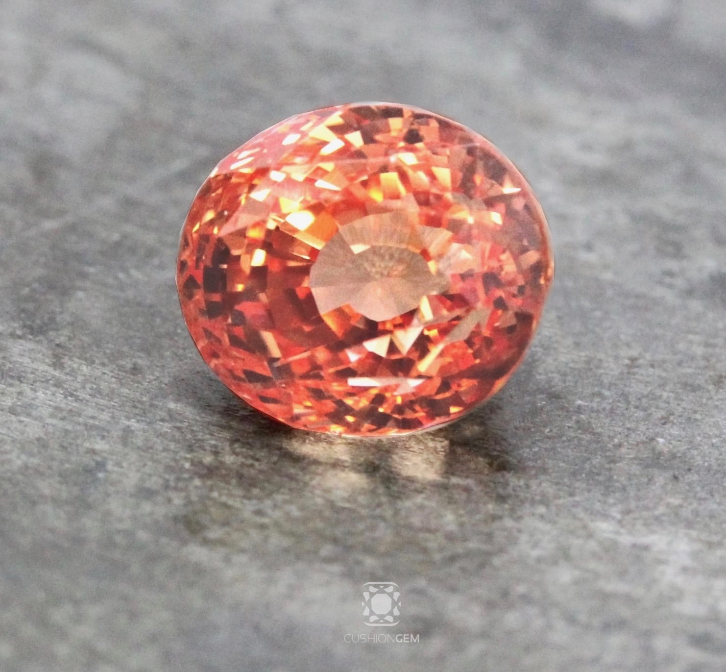 grace by sapphire no pad heat pink padparadscha jewels orange
