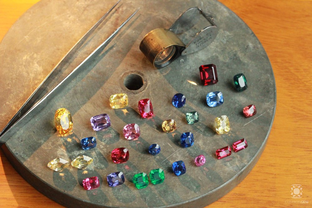 Choose from a cutter and connoisseur's evolving selection of rare Sapphire, Ruby, Spinel, Tsavorite, Demantoid, Spessartite, Tourmaline, and other rare gems of color.