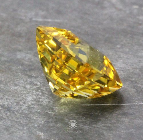 gelbe carat diamanten igi fancy emerald clarity deep yellow de natural shape