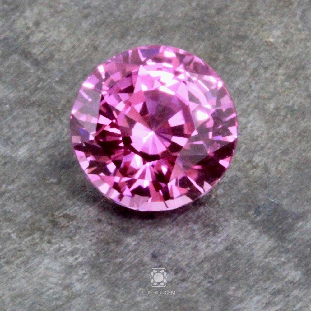4.08 Round Un-heated Pink Sapphire