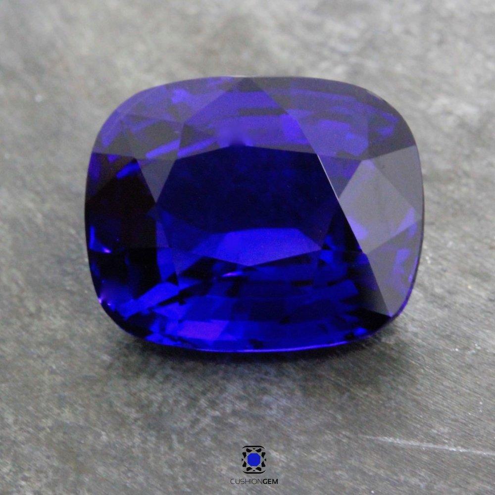 8.18 Cushion Un-heated Sapphire