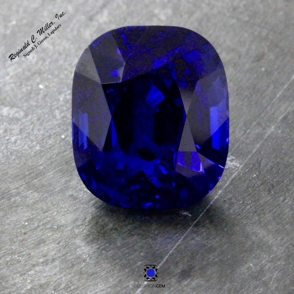 13.88 Cushion Un-heated Sapphire
