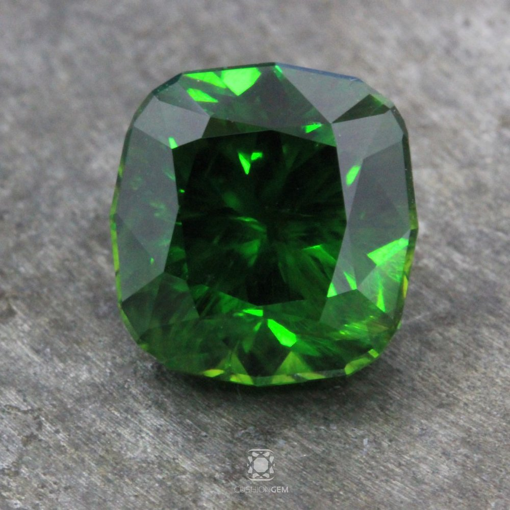 5.70 Cushion Classic Russian Demantoid Andradite Garnet