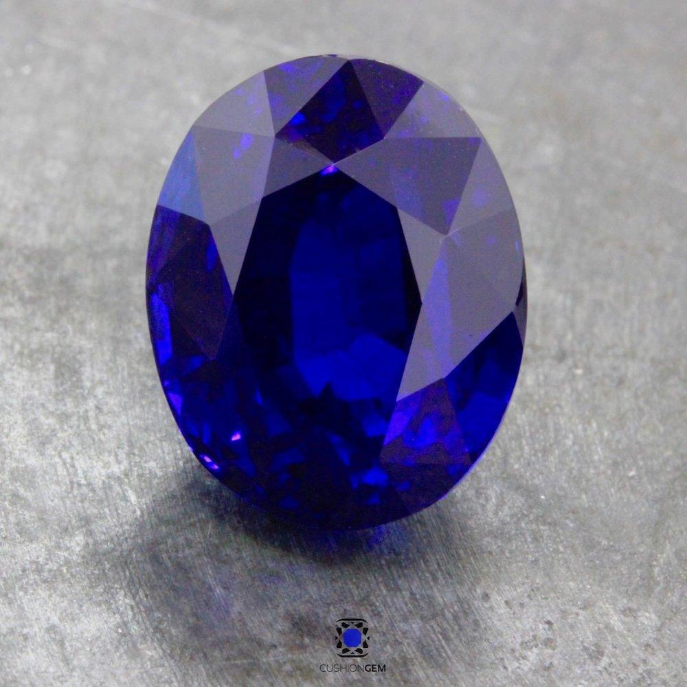 18.01 Oval Un-heated Sapphire