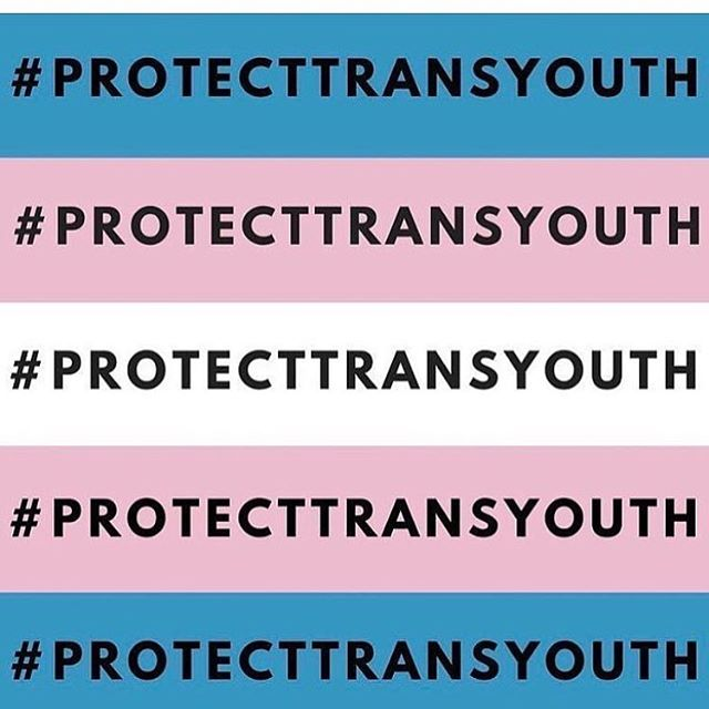 One thing that's definitely true about #translives? They are courageous. What's more American than being self-determined and wanting to be free and who you truly are? Protect our friends who make up the wonderful and diverse fabric of our country. Please! 💙💖🌥