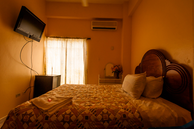 My hotel room in San José De Ocoa, Dominican Republic, has clean towels, soap and luxuries like a television, mini-fridge and air conditioning—but no hot water. July 3, 2014.