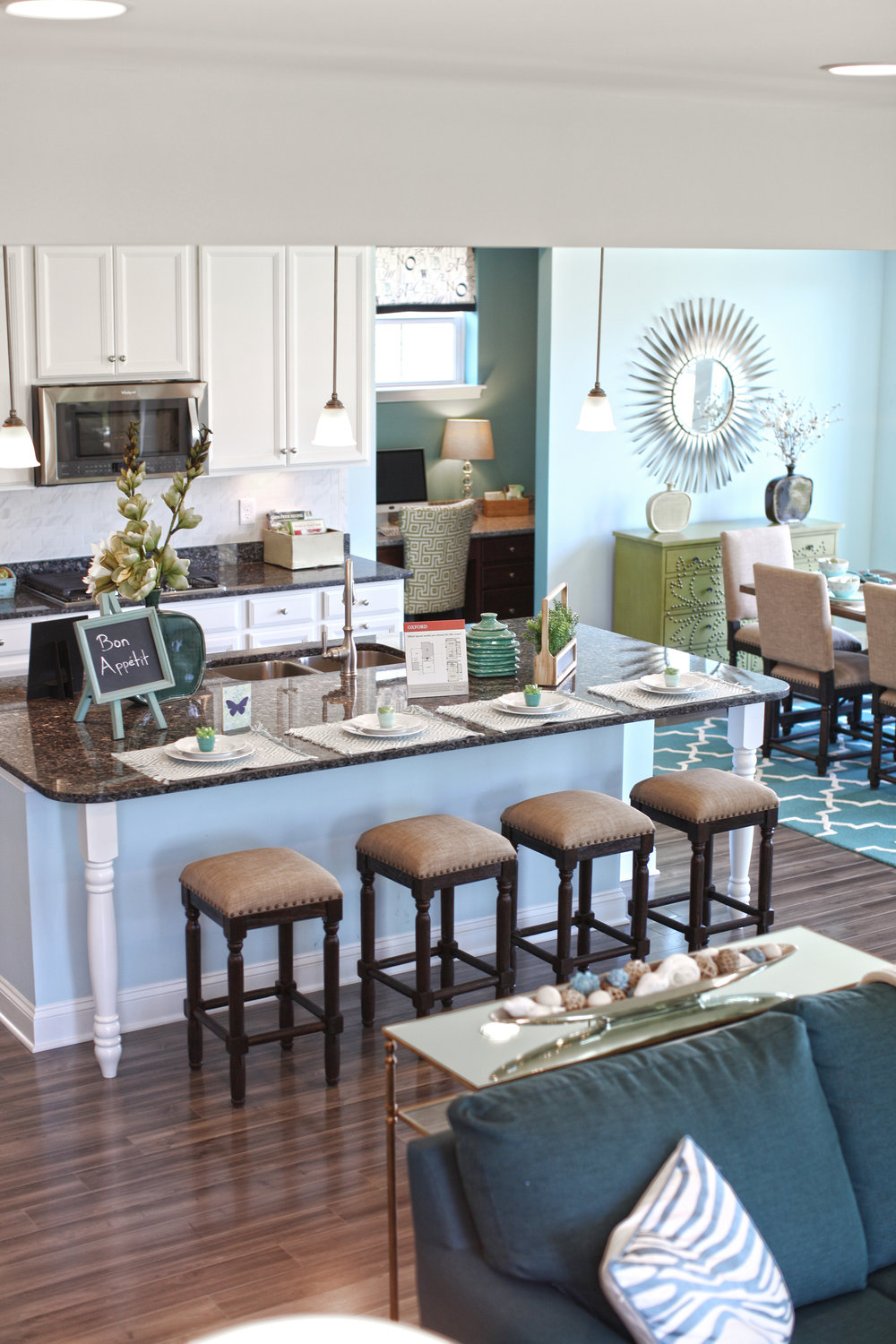 OPEN FLOOR PLANS - The most sought after request on every buyers' wish-list for the past 2 years...you said it..OPEN FLOOR PLANS. When it comes to Open Floor Plans, Beazer nailed it! They listened to buyers and exceeded the expectation! I love entertaining, having guests over for dinner which is why we fell in love with our home in the first place. I still love that I am in the kitchen and can hangout with Mike as he is reading or watching his favorite game.