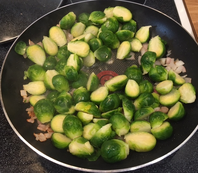 Lemon Brussels Sprouts with Bacon and Sage