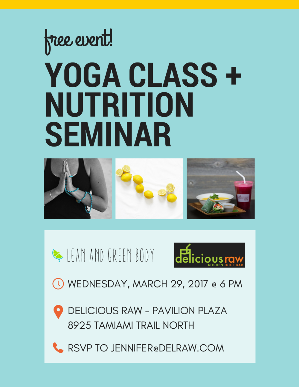 Yoga Class & Nutrition Talk