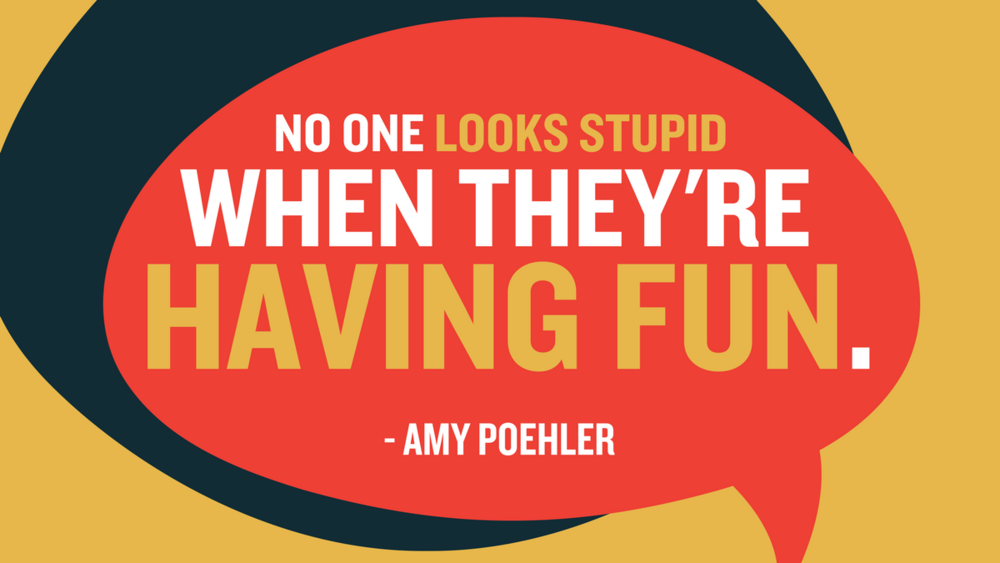 Amy Poehler No on looks stupid
