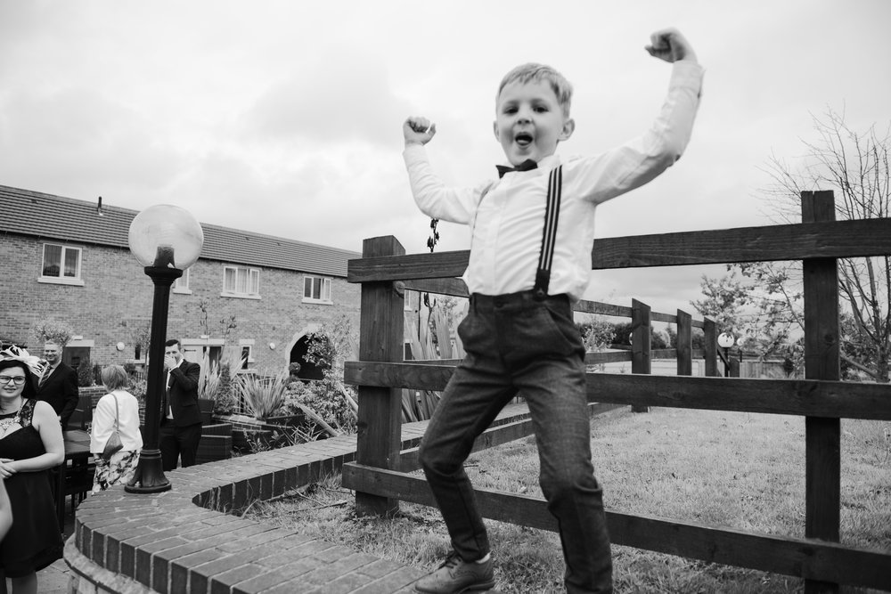 Funny Pageboy Alfreton Wedding