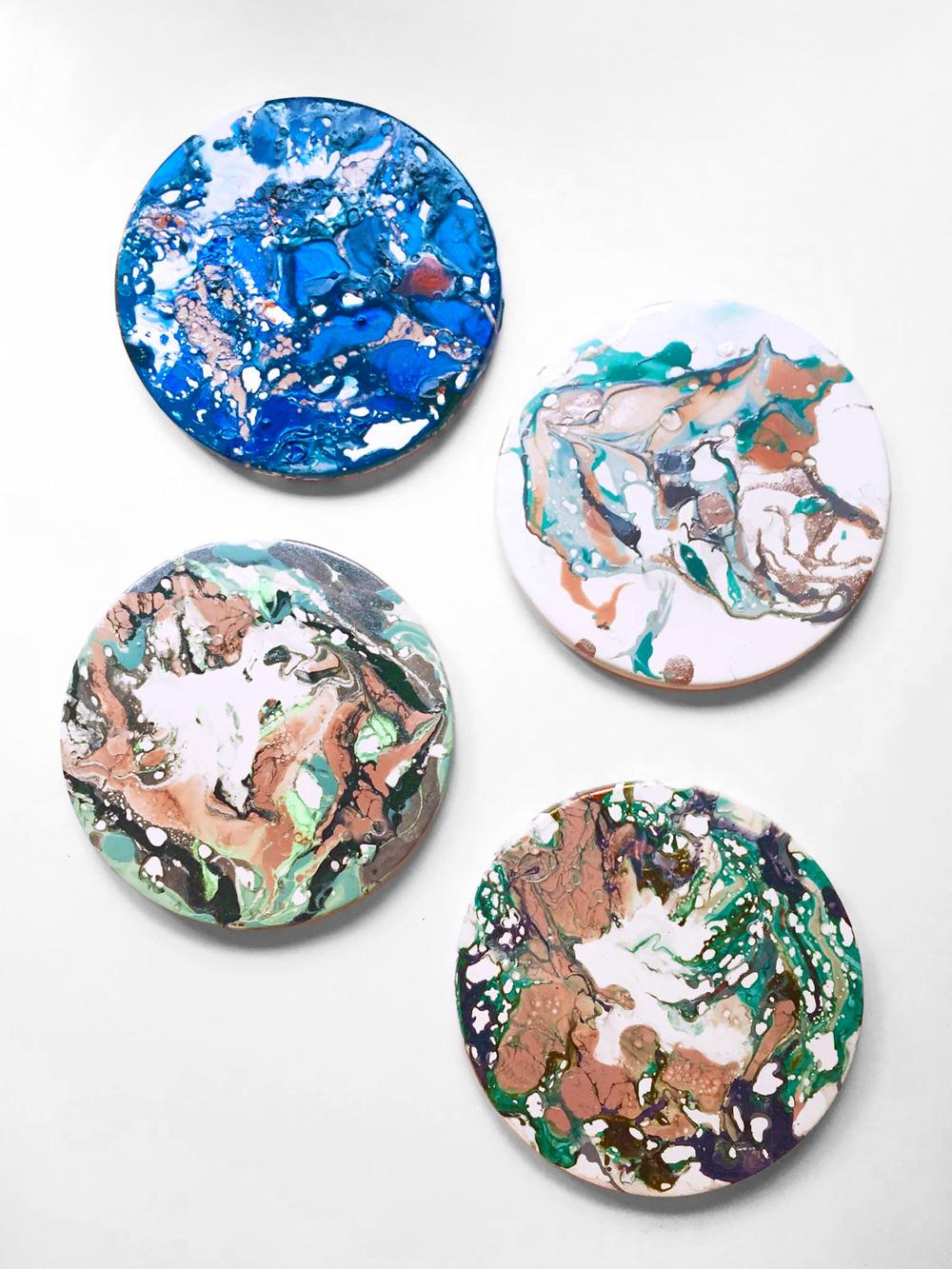 Brika Marbled Coasters