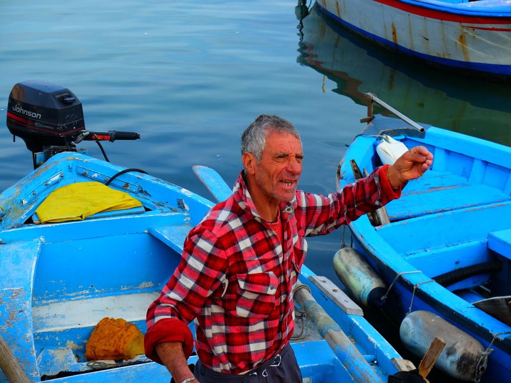 Italian fisherman in Bari, Italy