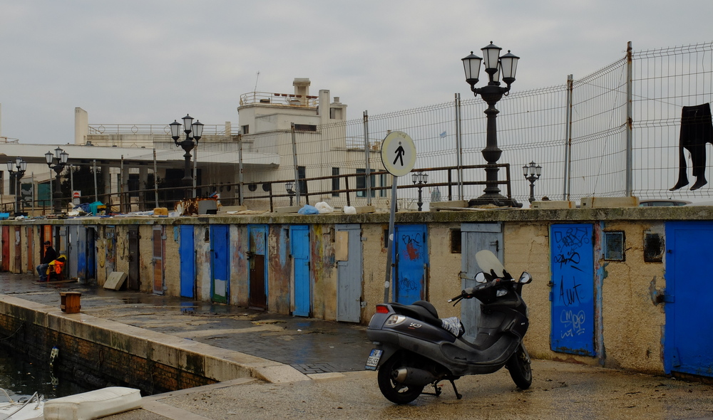 Fisherman Lockers, Old Port, Bari, Italy