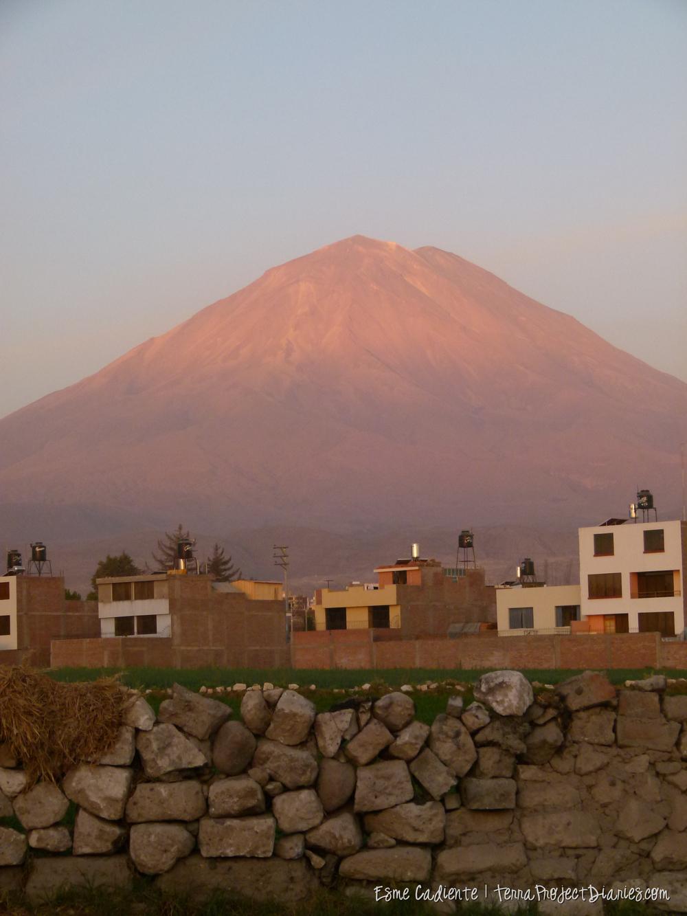 Vólcan Mistí seen from Arequipa.