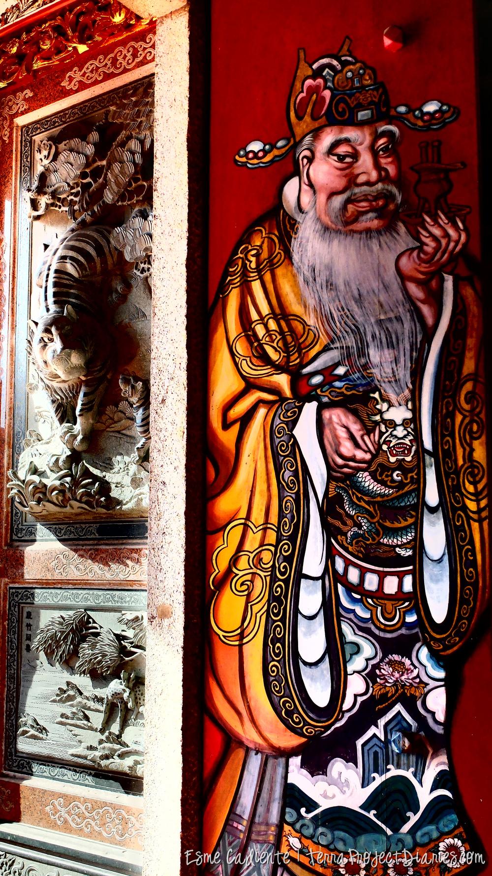 Chinese temple door