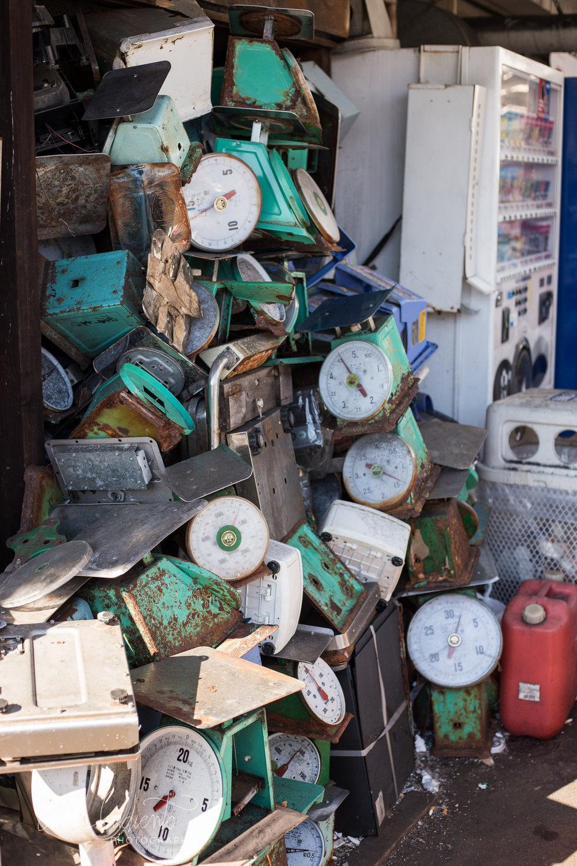 scales Tsukiji fish market