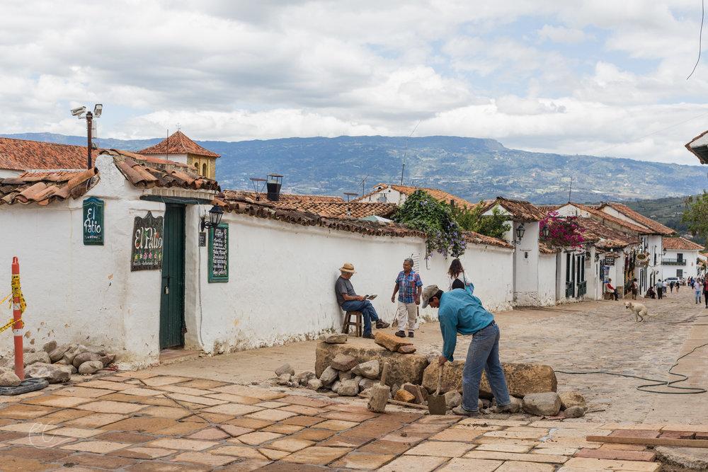 Construction workers, Villa De Leyva