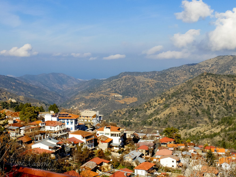 Village in the mountains Troodos Mountains.