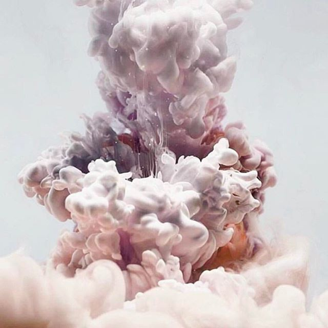 . . . photographed paint and ink in water . . .  #kimkeever