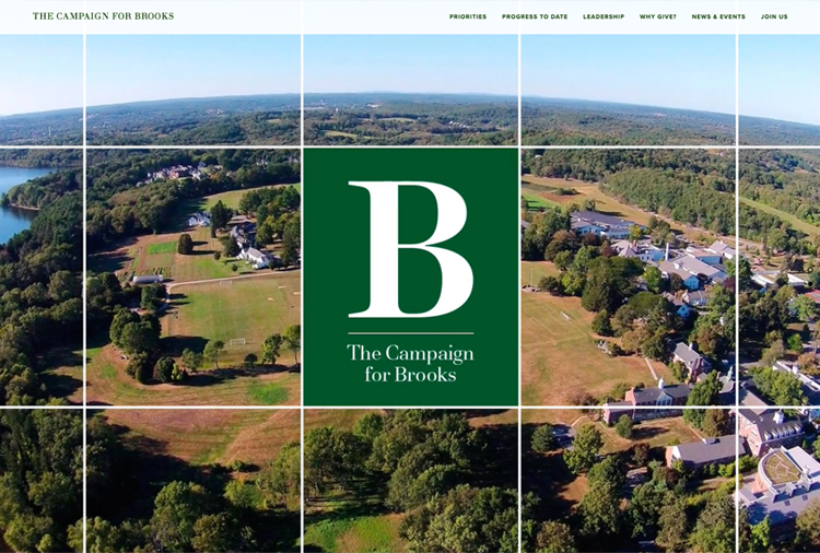 Brooks School capital campaign micro-site