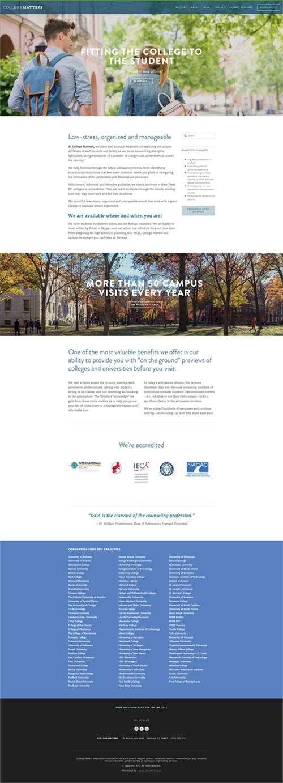 Website design College Matters