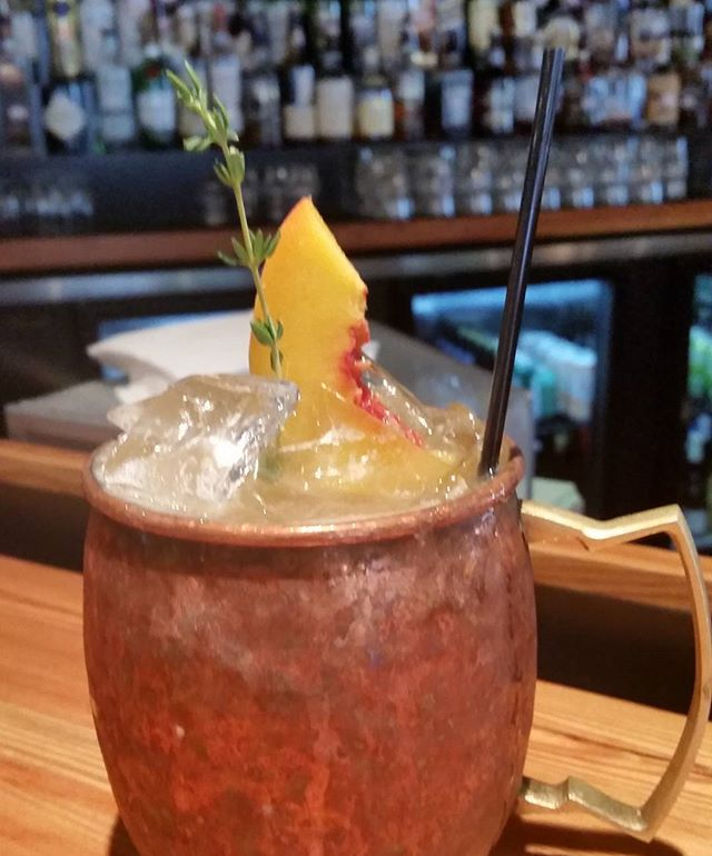 #mezcal #peach #mule perfect for your Monday woes #localasheck #Durham #duke