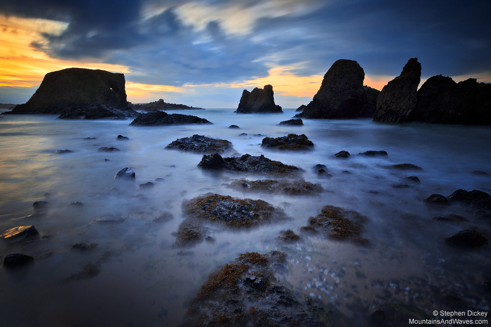 Ballintoy Dusk, County Antrim, Northern Ireland