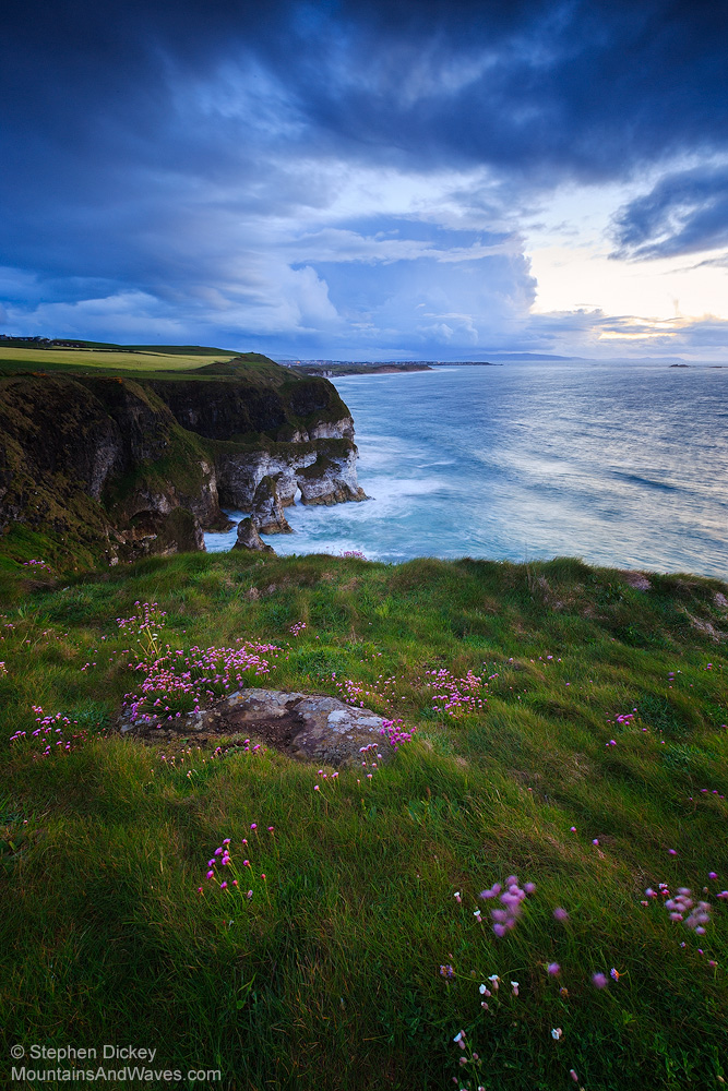 Dusk at Magheracross Viewpoint, County Antrim - Northern Ireland Landscape Photography by Stephen Dickey