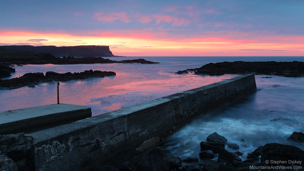 Dunseverick Dusk, County Antrim, Northern Ireland