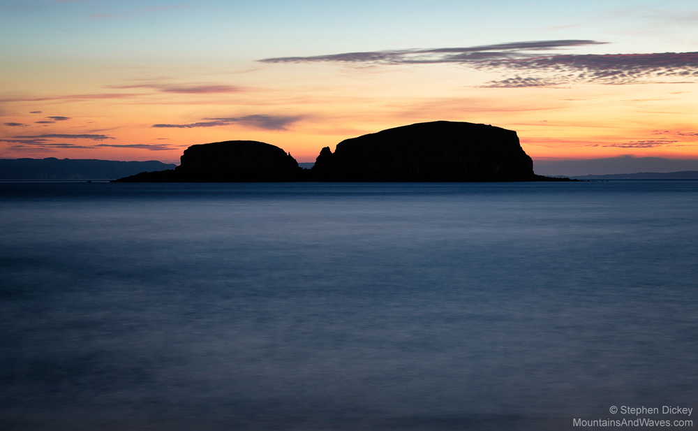 Sheep Island Sunrise, Ballintoy, County Antrim, Northern Ireland