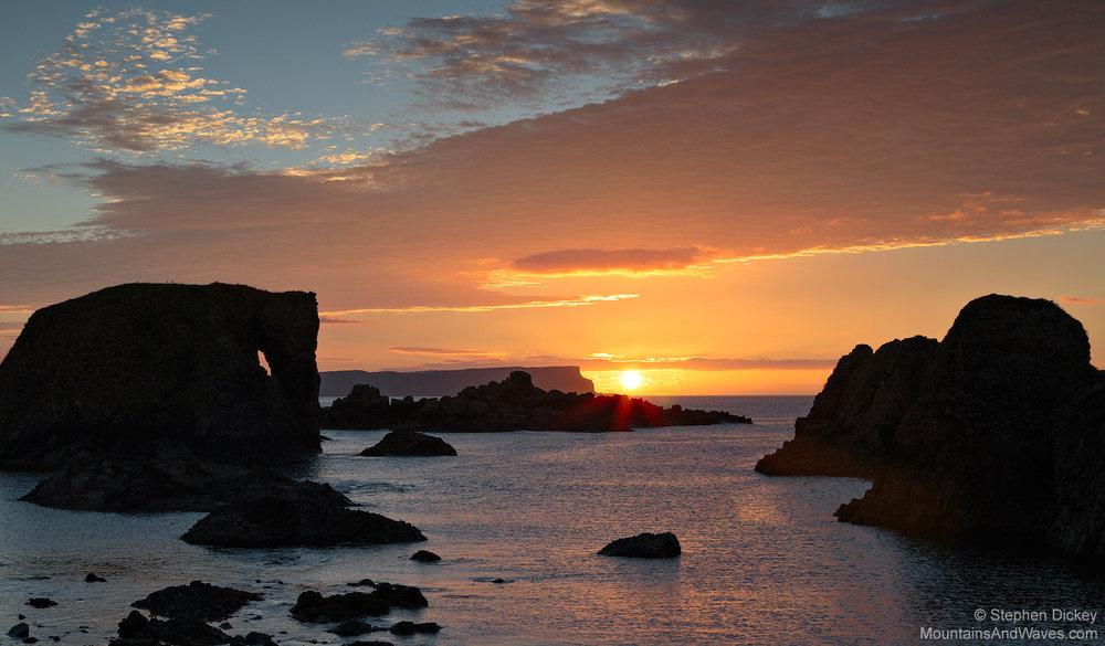 'African Sunset,' Ballintoy, County Antrim, Northern Ireland