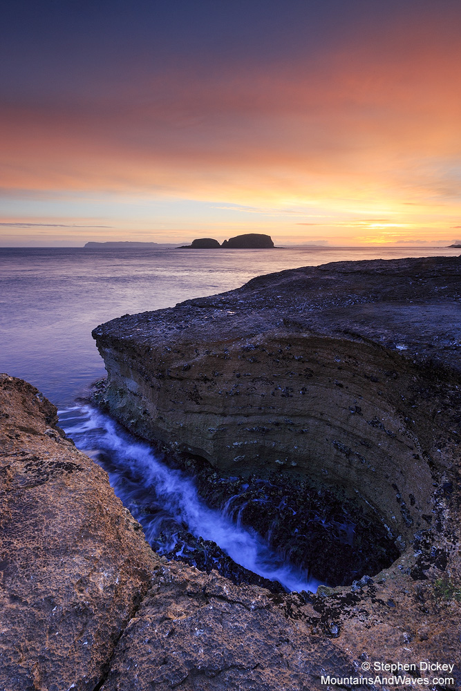Keyhole Sunrise, Ballintoy, County Antrim, Northern Ireland