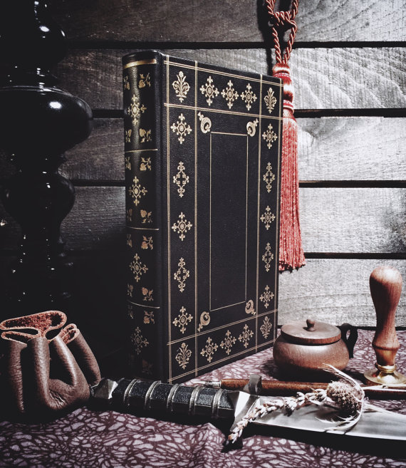 Finely Bound Leather Journal - Your lovely witch deserves to keep his/her secrets and spells in a journal crafted with devotion and expertise. Think of the generations to come that will hold a book this lovely in their hands and dream of the author.