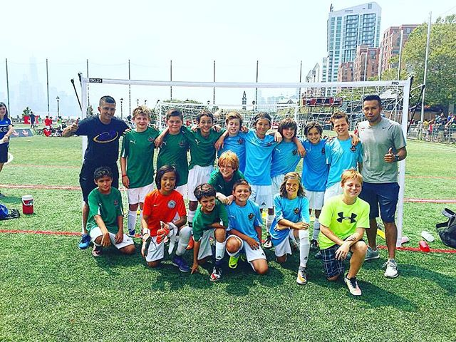 U11 EPD Suarez and EPD Iniesta together before the finals at Gobal5