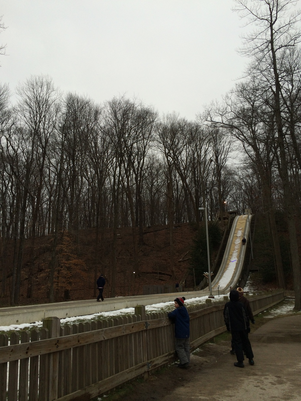 We went tobogganing and it was crazy and fun and scary all at once.
