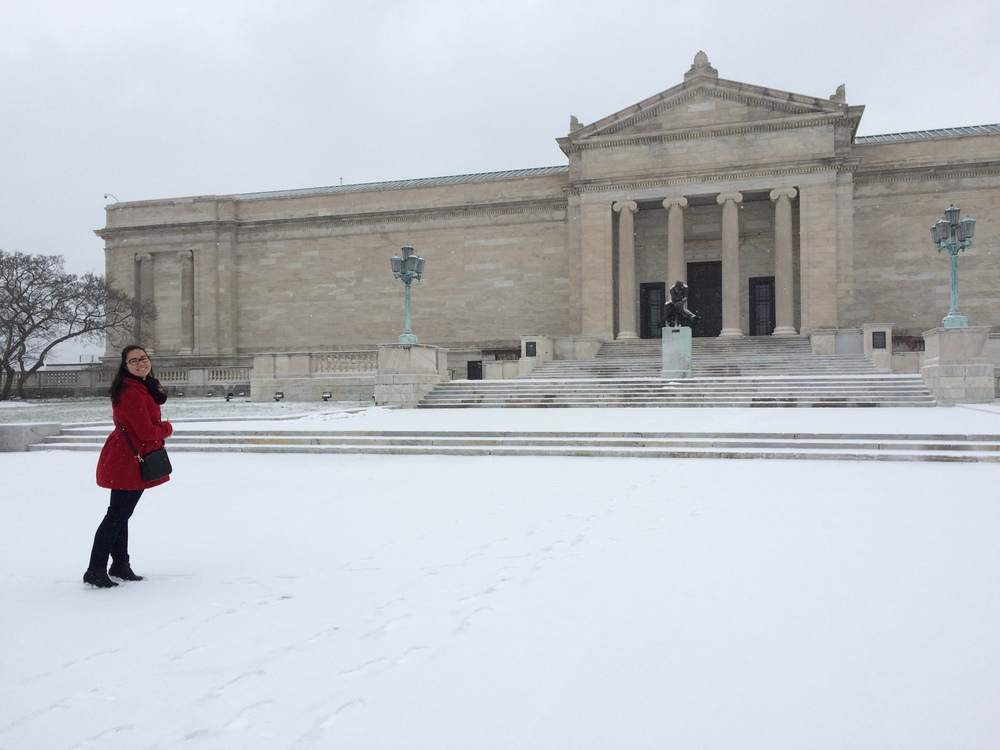 Cleveland Museum of Art looking good in the snow (and so is Kathy)