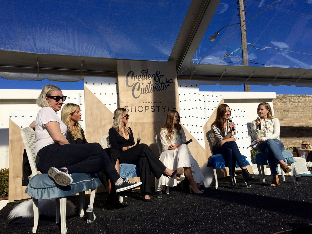 Amazing lady bosses: Sophia Rossi of HelloGiggles  (😍) , Mary of Happily Grey, Lauryn of Skinny Confidential, Julia Engel of Gal Meets Glam  (💕) , and Camilla of Camilla Styles.