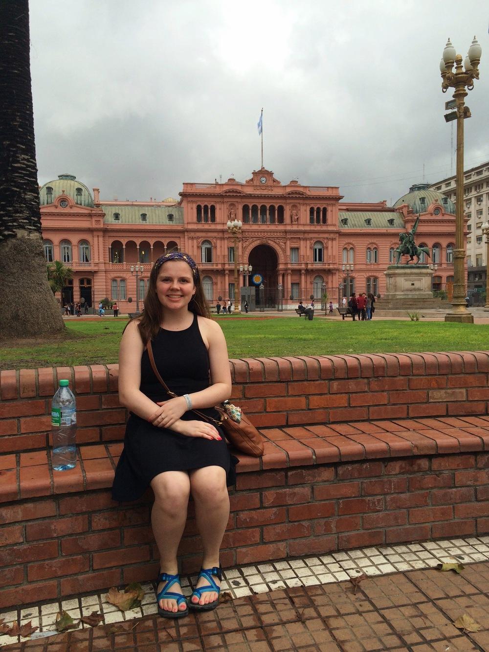 La Casa Rosada: mansion + executive office of the President of Argentina