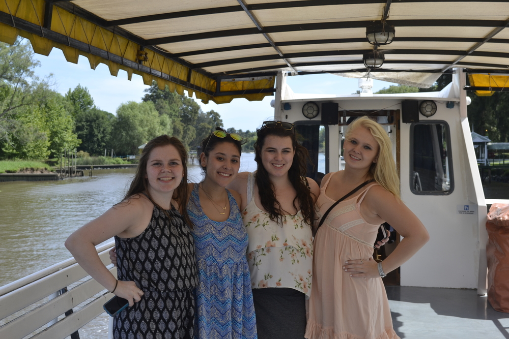 My roomies and I on the boat!